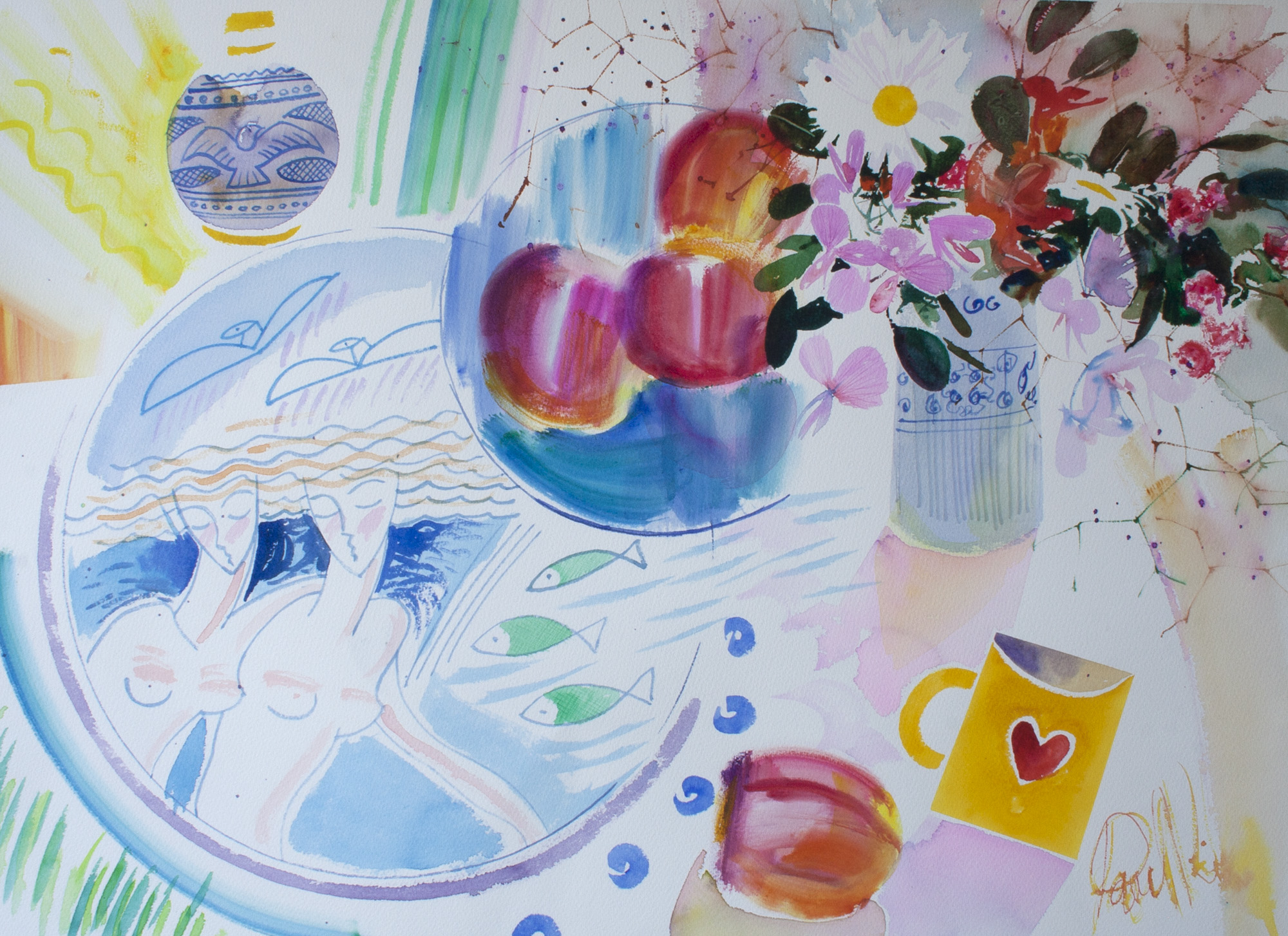 Flowers and Fantasy 57 x 76 cms