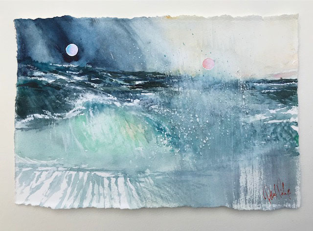 Watercolour sea painting
